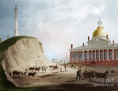 Cutting Down Of Beacon Hill, 1811 Art Print