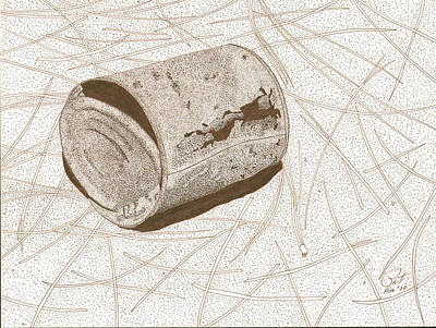 Sepia Ink Drawing - Cutting Edge by Pat Price