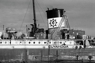 Photograph - Cuyahoga Detail 120217 Bw by Mary Bedy