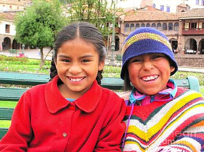 Photograph - Cuzco Chicas by Michele Penner
