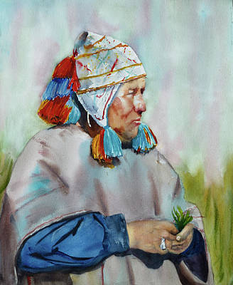 Machu Picchu Painting - Cuzco Shaman  by Melanie Harman