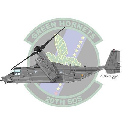 Cv-22b Osprey 20sos Art Print