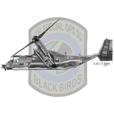 Cv-22b Osprey 8sos Art Print