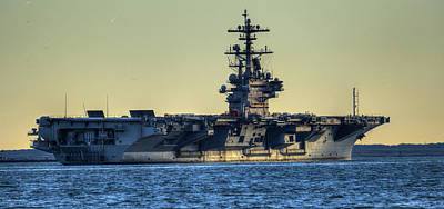 Photograph - Cvn77 Bush Aircraft Carrier by Jerry Gammon