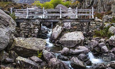 North Wales Digital Art - Cwm Idwal Bridge by Chris Evans