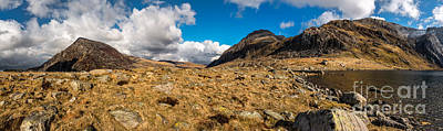 Coastline Digital Art - Cwm Idwal Panorama by Adrian Evans