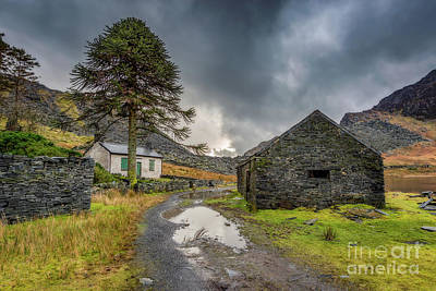 Print featuring the photograph Cwmorthin Slate Ruins by Adrian Evans