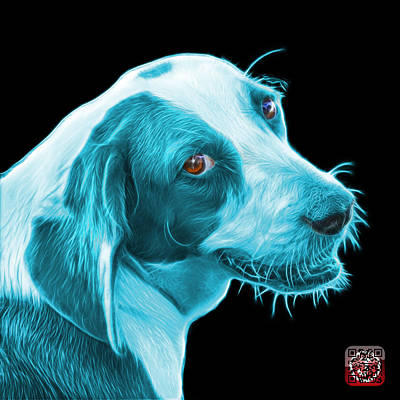 Painting - Cyan Beagle Dog Art- 6896 - Bb by James Ahn