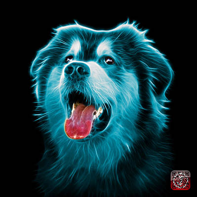 Painting - Cyan Malamute Dog Art - 6536 - Bb by James Ahn
