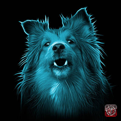 Painting - Cyan Sheltie Dog Art 0207 - Bb by James Ahn