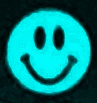 Photograph - Cyan Smiley by Rob Hans