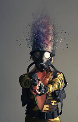 Cyber Attack Art Print by Nichola Denny