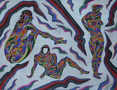 Painting - Cyber Gestes  by Robert SORENSEN