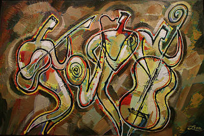 Various Painting - Cyber Jazz by Leon Zernitsky