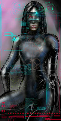 Digital Art - Cyber Lady by Fabrizio Uffreduzzi