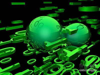 Cyber Virus Art Print by Michael Burleigh