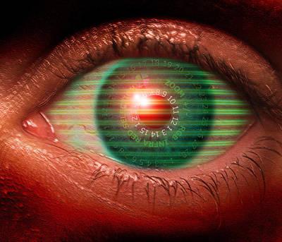 Cybernetic Eye Print by Victor Habbick Visions