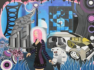 Cyberpunk Aesthetics Number Three Art Print by Thomas Albany