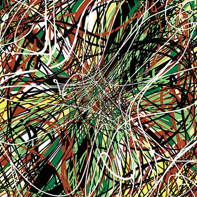 Cyberworld Art Print by Ve Ba Art