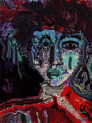 Outsider Art Mixed Media - Cyborg by Natalie Holland