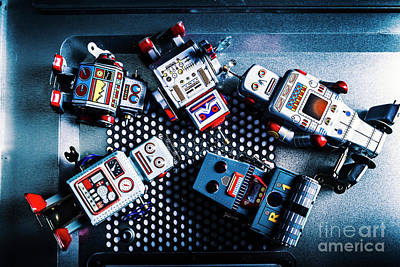 Toy Photograph - Cyborg Technology Reset by Jorgo Photography - Wall Art Gallery