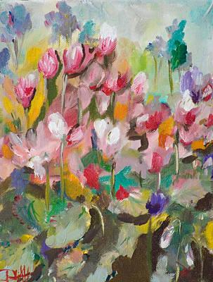Cyclamen No.3 Art Print by Delilah  Smith