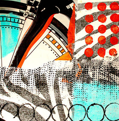 Mixed Media - Cycle Abstract by Nancy Merkle