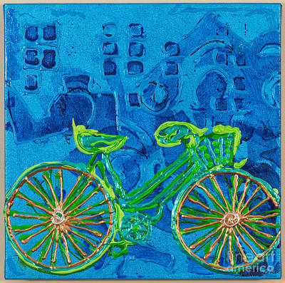 Painting - Cycle Green by Sheila McPhee