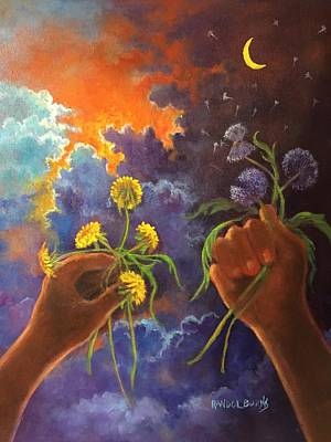 Painting - Cycle Of Life  Hands Ot Heaven Series by Randol Burns