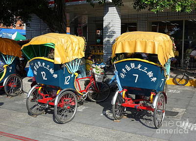 Photograph - Cycle Rickshaws In Taiwan by Yali Shi