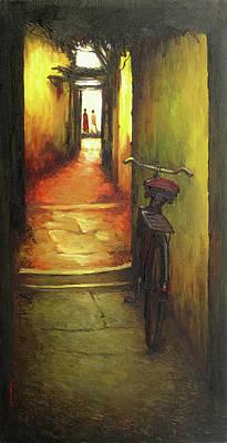 Tamilnadu Painting - Cycle by Sathya Sathya