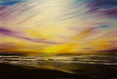 Cycles Painting - Cycle Sunset by Roxane Gabriel