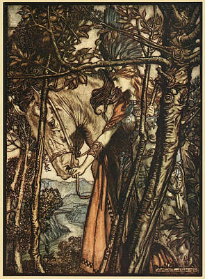 Valkyries Painting - Cycle The Valkyrie by Arthur Rackham