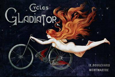 Cycles Gladiator - Paris 1895 Art Print by Daniel Hagerman