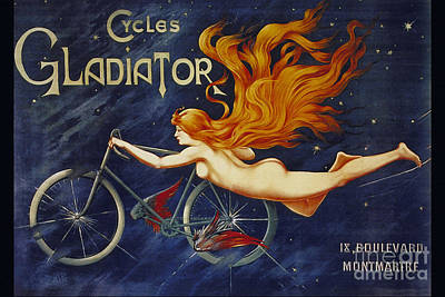 Cycles Gladiator  Vintage Cycling Poster Art Print