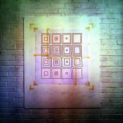 Drawing - Cyclic Squares - 24 by David Riley