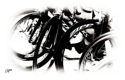 Cycling Art  Art Print by Steven Digman