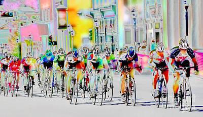 Cycling Down Main Street Usa Art Print