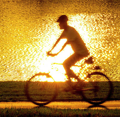Photograph - Cycling In Forest Park by Garry McMichael