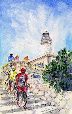 Sports Sketching Drawing - Cycling In Majorca 03 by Miki De Goodaboom