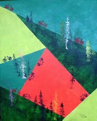Painting - Cycling  by Isaac Alcantar