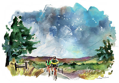Painting - Cycling On The North Yorkshire Moors 03 by Miki De Goodaboom
