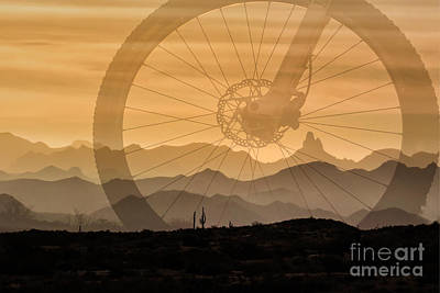Photograph - Cycling Superstition Wilderness by Marianne Jensen