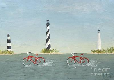Painting - Cycling The Pamlico Sound by Phyllis Andrews