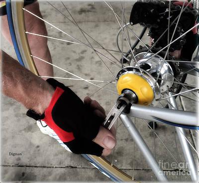 Bike Riding Digital Art - Cycling The Tire  by Steven  Digman