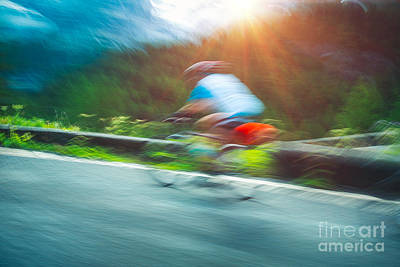 Photograph - Cyclist In Motion by Anna Om