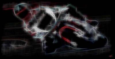 Digital Art - Cyclist by Kenneth Armand Johnson