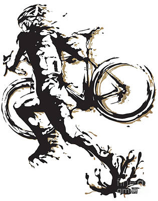 Painting - Cyclocross Poster1 by Sassan Filsoof
