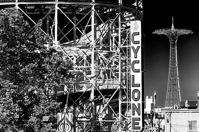 Cyclone At Coney Island Art Print