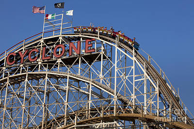 Cyclone Rollercoaster Photograph - Cyclone Rollercoaster by Anthony Totah